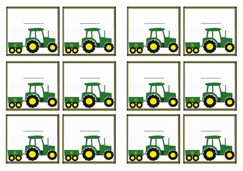 printable john deere birthday cards free printable john deer tractor themed name tags themed