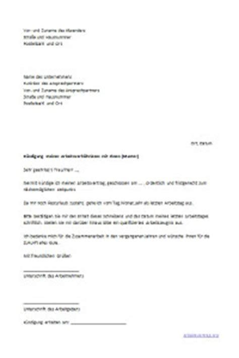 Vorlage Kündigung Arbeitsvertrag Probezeit Arbeitnehmer Arbeitsrecht Muster Arbeitsvertrag Arbeitsrecht 2017