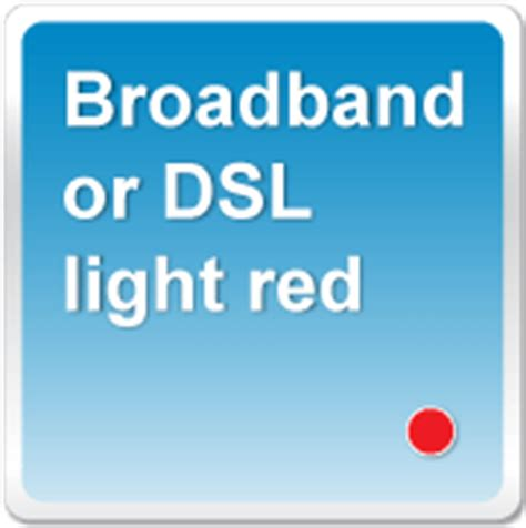 2wire Or Pace Gateway Broadband Or Dsl Light Is Red