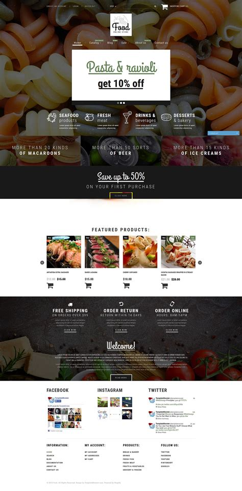 shopify themes food food store shopify theme
