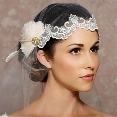 Feather Wedding Veil vintage wedding veil lace feather mantilla bridal