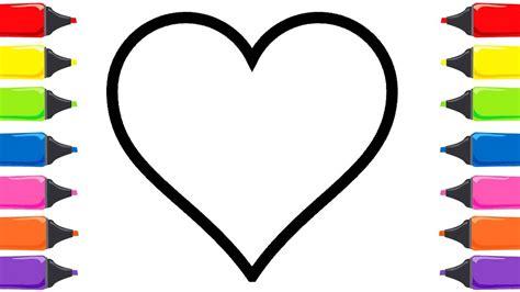 Kalp Boyama Sayfalar? Çocuklar için Boyama Renkleri