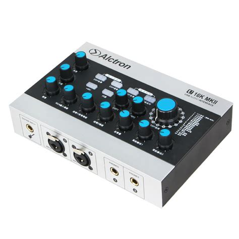 Usb Sound Card Murah alctron u16k mkii usb audio interface transforms sound card a fully featured usb audio interface