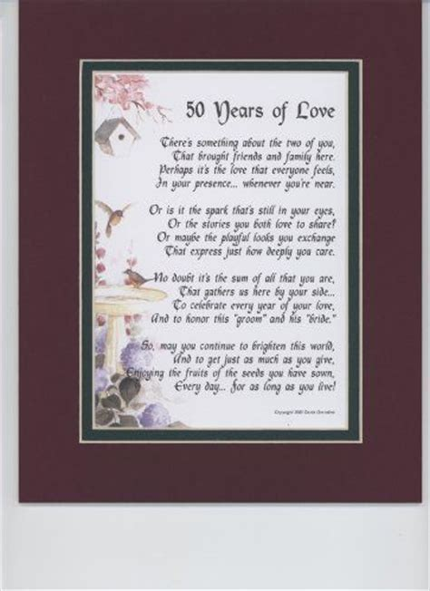 Anniversary poems, 50th anniversary and Poem on Pinterest