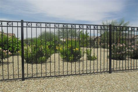 wrought iron fence rod iron