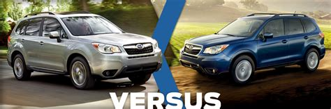 compare subaru forester models 2016 subaru forester vs 2015 subaru forester model