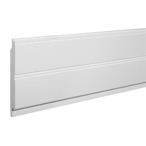 Azek Wainscoting by Azek 5 5 In X 8 Ft Single Bead White Pvc Wainscoting Wall