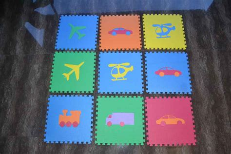 Puzzle Matras Evamats 30 X 30 Motif Gambar Kendaraan matras puzzle matras anak matras bayibelajar membaca fast