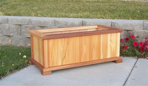 planter box grow the tomato with our cedar planter boxes wood country