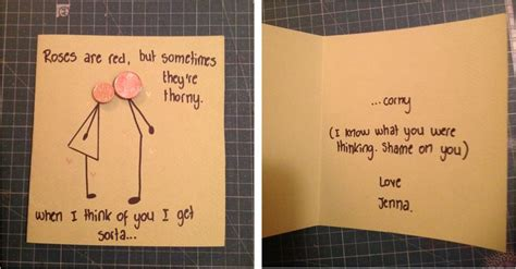 Handmade Birthday Present For Boyfriend - boyfriend s birthday card i laughed for like 10 minutes