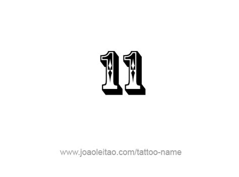 number 11 tattoo designs eleven 11 number designs page 2 of 4 tattoos