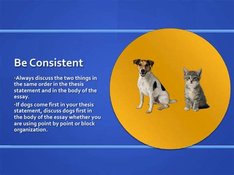 Compare And Contrast Essay On Cats And Dogs by Week 8 Comparison Contrast Essay