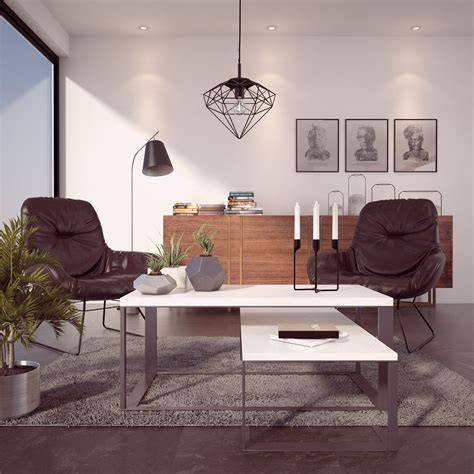 model interior vray ds max  behance dom