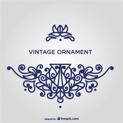 Orientalische Muster Vorlagen Kostenlos Wirbeln Blaue Ornament Vorlage Der Kostenlosen Vektor