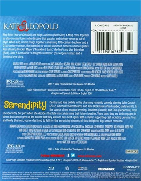 Kate Leopold Serendipity kate leopold serendipity feature