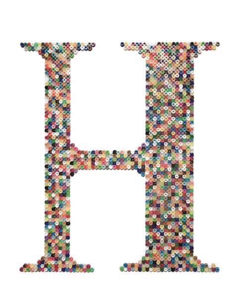 hama perler letter h cool crafts