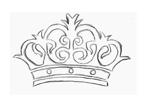 coloring page of a crown for a king great king and queen crown templates 1 3150