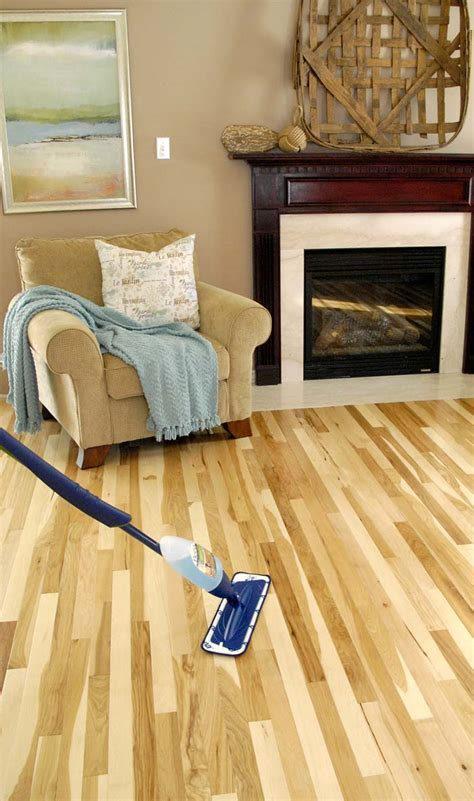 Hickory floor sneak peek (plus hardwood cleaning tips