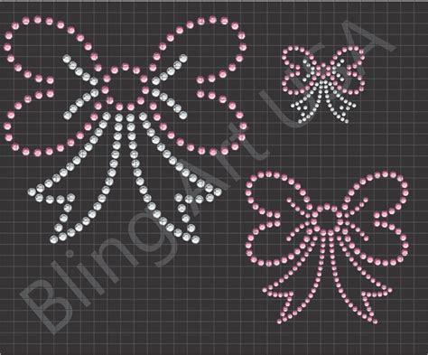 bows rhinestone downloads files ribbon patterns template