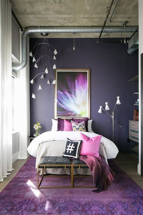 bianca purple plum ruffled accent pillow