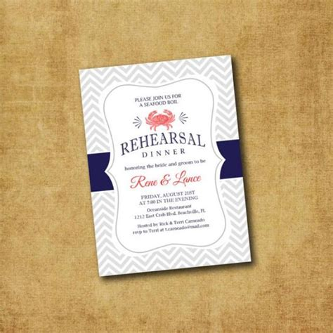 printable invitations rehearsal dinner crab rehearsal dinner invitation printable nautical