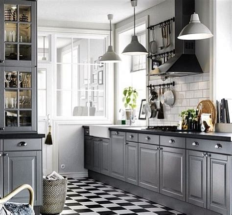Ikea Fitted Cupboards - ikea bodbyn fitted kitchen grey kitchens i like in