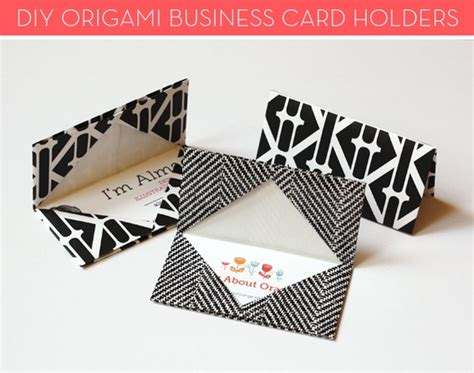 make your own card holder how to make your own origami business card holders curbly