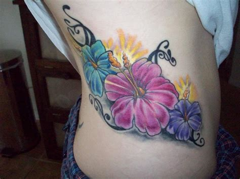 colored flower tattoos flower tattoos and designs page 22