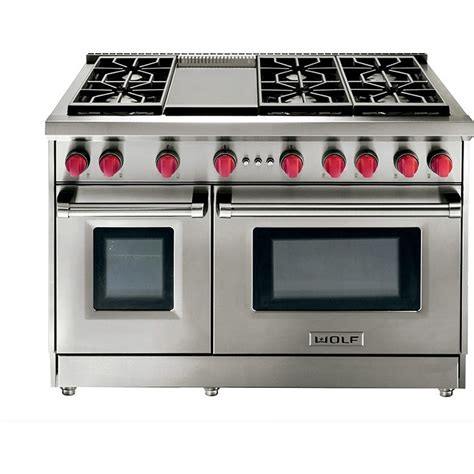 Wolf Gas Cooktop Wolf Gr486g 48 Quot Gas Range 6 Burners W Griddle