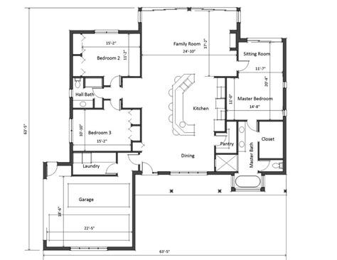 Square Living Room Floor Plans House Plans With Large Living Rooms Medium Size Designed