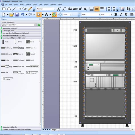 visio rack template visio rack stencils with u numbers