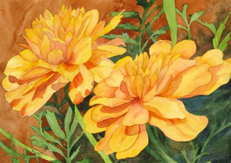 marigold paint close ups