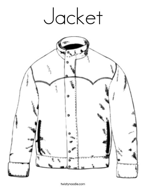 coloring page jacket jacket coloring page twisty noodle