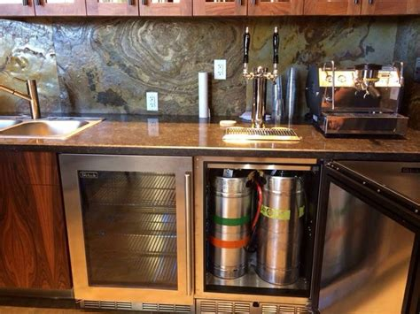 built in kegerator kitchen remodel with built in kegerator kegerator keezer