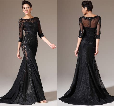 Evening Dressers by Black Evening Dresses With Sleeves Kzdress