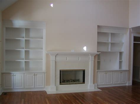 fire place built ins with room for big screen for the