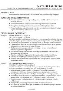 Resume Summary Of Qualifications by Resume Executive Financial Technology Susan Ireland