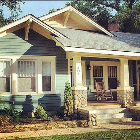 Dream Home On Pinterest Craftsman Bungalows Bungalows | dream home colorful bungalow rock front porch by my dad