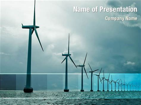 powerpoint themes wind energy north sea windmills powerpoint templates north sea