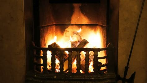 cosy fireplace stock footage 8328241