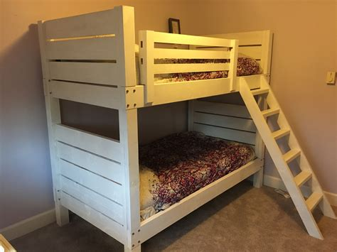 ana white bunk bed ana white white bunk beds diy projects
