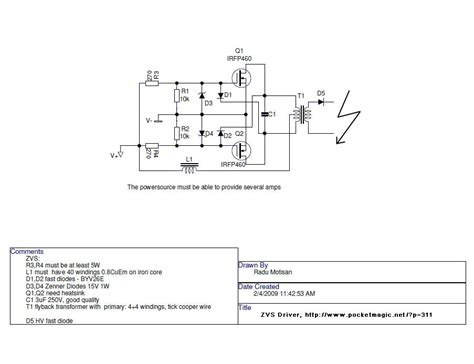 zvs driver diagram zvs get free image about wiring diagram