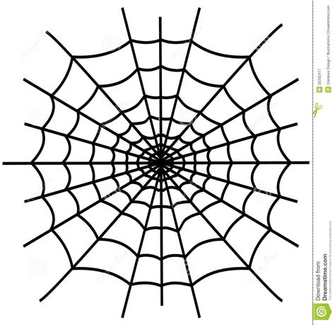 Black spiderweb isolated stock vector. Illustration of