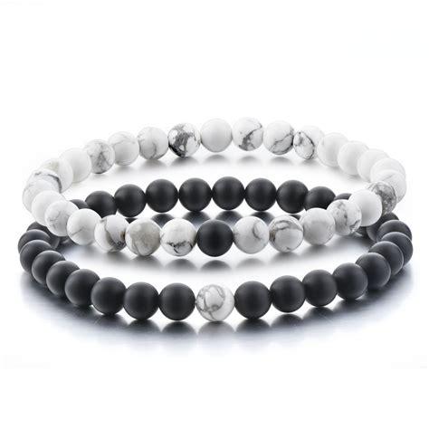 bracelets with distance bracelets for black matte agate white