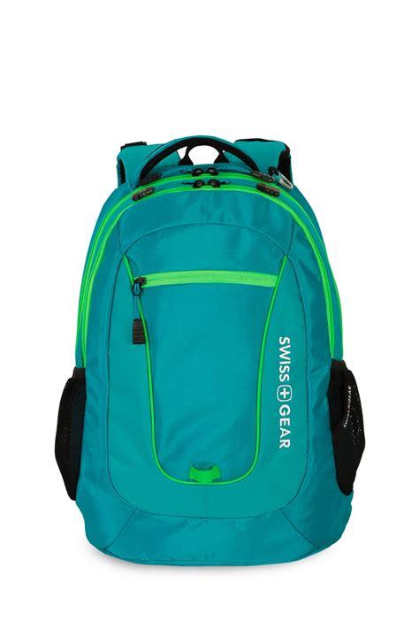 backpack gear loops swissgear 5603 backpack raffia teal green orbit