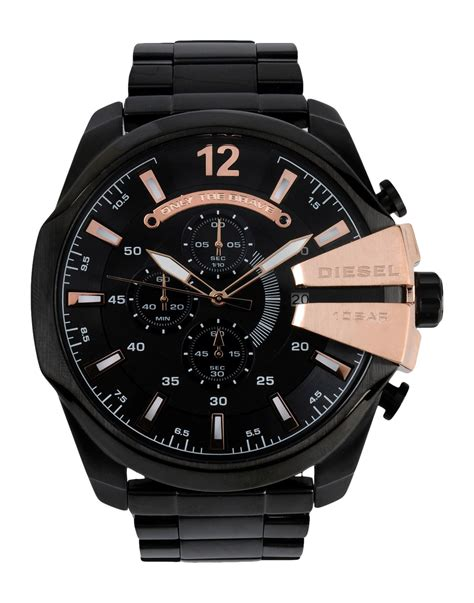 Diesel Black diesel wrist in black save 40 lyst