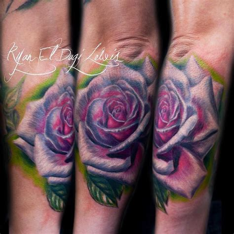 real rose tattoos collection of 25 realistic purple and tattoos