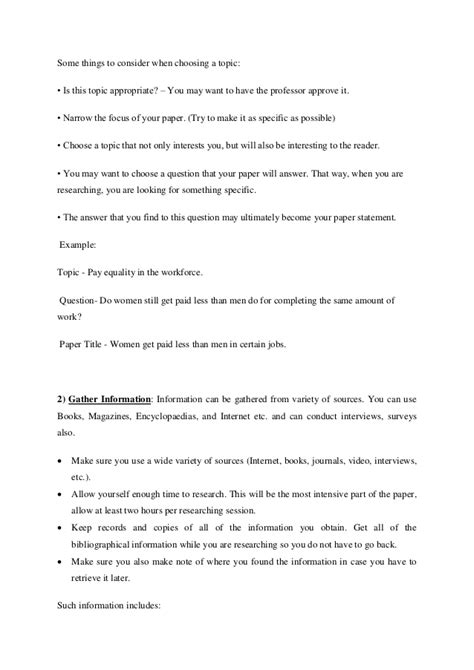 how to write a simple research paper 10 steps to write a basic research paper