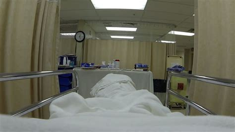er bed hospital recovery bed breathing emergency room hd mature