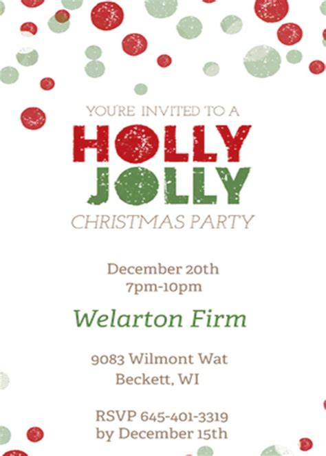 staff christmas party staff invitation for